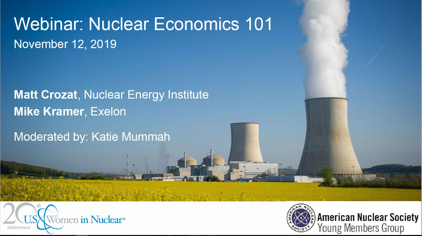 US WIN Fall Webinar – Nuclear Economics 101